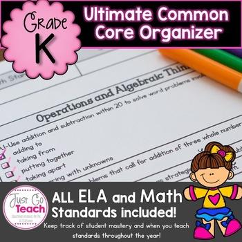 Kindergarten Common Core Standards Teacher/Parent Check-off Sheet