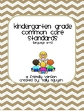 Kindergarten Common Core Standards User-Friendly