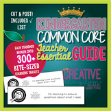 Kindergarten Common Core State Standard Guide -  ELA and M