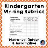 Kindergarten Common Core Writing Rubrics