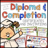 Kindergarten Completion Certificates and Invitations