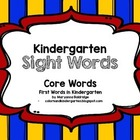 Kindergarten Core Sight Words