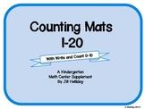Kindergarten Counting Mats 1-20
