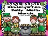 Kindergarten Daily Math Common Core Aligned - March