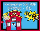 Kindergarten Daily Math September thru May - NO PREP! (Com