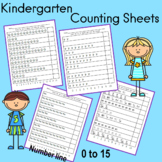 Kindergarten First Semester Counting Sheets