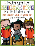 Kindergarten Interactive Math Notebook- October and November