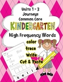 High Frequency Words Journeys Common Core Units 1-3 Work C