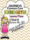 Kindergarten K Lesson Plans Journeys Common Core Unit 4 Le