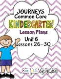 Kindergarten K Lesson Plans Journeys Common Core Unit 6 Le