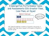 Kindergarten Math Assessments: CC6 Greater Than, Less Than