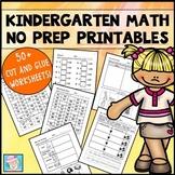 Kindergarten Math Common Core Cut-and-Glue Workbook