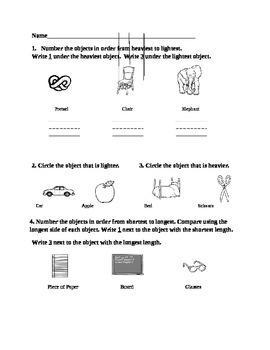 Kindergarten Measurement Assessment