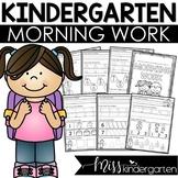 Kindergarten Morning Work {August}