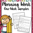 Kindergarten Morning Work Sampler
