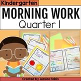 Morning Work Kindergarten 1st Quarter