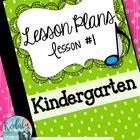 Kindergarten Music Lesson Plan {Day 1}