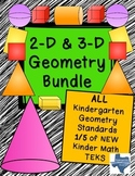 Kindergarten NEW Math TEKS: K.6ABCDEF: Complete Geometry 2