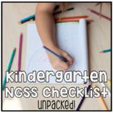 Kindergarten NGSS Next Generation Science Standards Checkl
