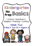 Kindergarten NO PREP Basics {Week 2}