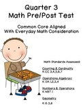 Kindergarten Quarter 3 Pre & Post Math Test