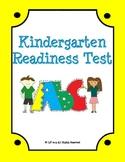 Kindergarten Readiness Exam for the Common Core Classroom