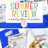 Kindergarten Readiness Summer Homework {Editable}