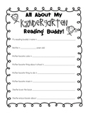 Kindergarten Reading Buddy Getting to Know You Form