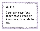 Kindergarten Reading Common Core Standards for Posting - P
