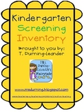 Kindergarten Screening Inventory Assessment