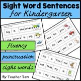 Kindergarten Sight Word Cut-and-Glue Sentences-36 sentences