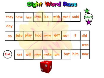 Kindergarten Sight Words For the SmartBoard