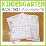 Kindergarten Skills Inventory