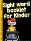 Kindergarten Student Sight Word Booklet with Sentences
