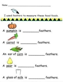 Kindergarten Thanksgiving Math Stations