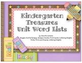 Kindergarten Treasures Series Theme Words