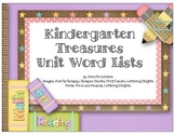 Kindergarten Treasures Series Theme Words