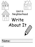 Kindergarten Treasures Unit 6 Write About it Journals