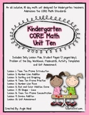 Kindergarten Unit 10 CORE Math