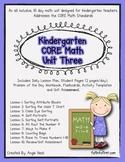 Kindergarten Unit 3 CORE Math