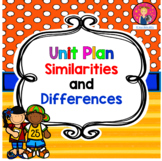 Kindergarten Unit Plan on Similarities and Differences {BUNDLED}