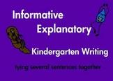 Kindergarten Writing Informative Explanatory Sentences Com