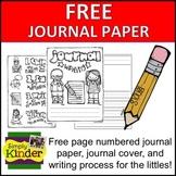 Kindergarten Writing Paper Free