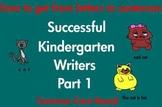 Kindergarten Writing Sentences, Words, Letters Common Core Based