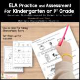 Kindergarten or 1st Grade Standardized Test Practice for ELA