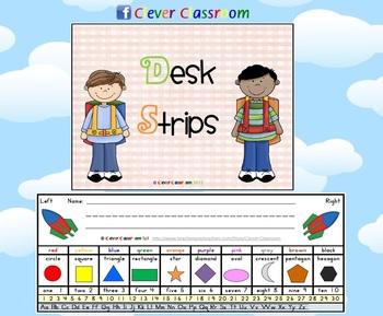 Kindy Classroom Desk Strips - Desk Mates - 3 pages