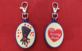 Kissing Hand Zipper Pull