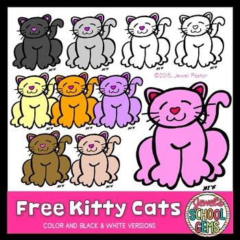 Free Kitty Cats (Cats Clip Art)