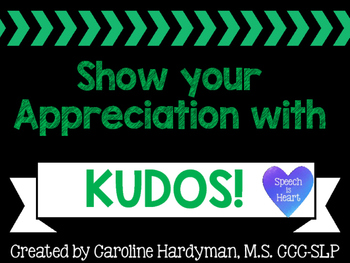 Kudos! for Educators FREEBIE
