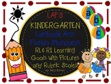 LAFS FLA KINDERGARTEN RI & RL Learning Goals with 2 SETS o